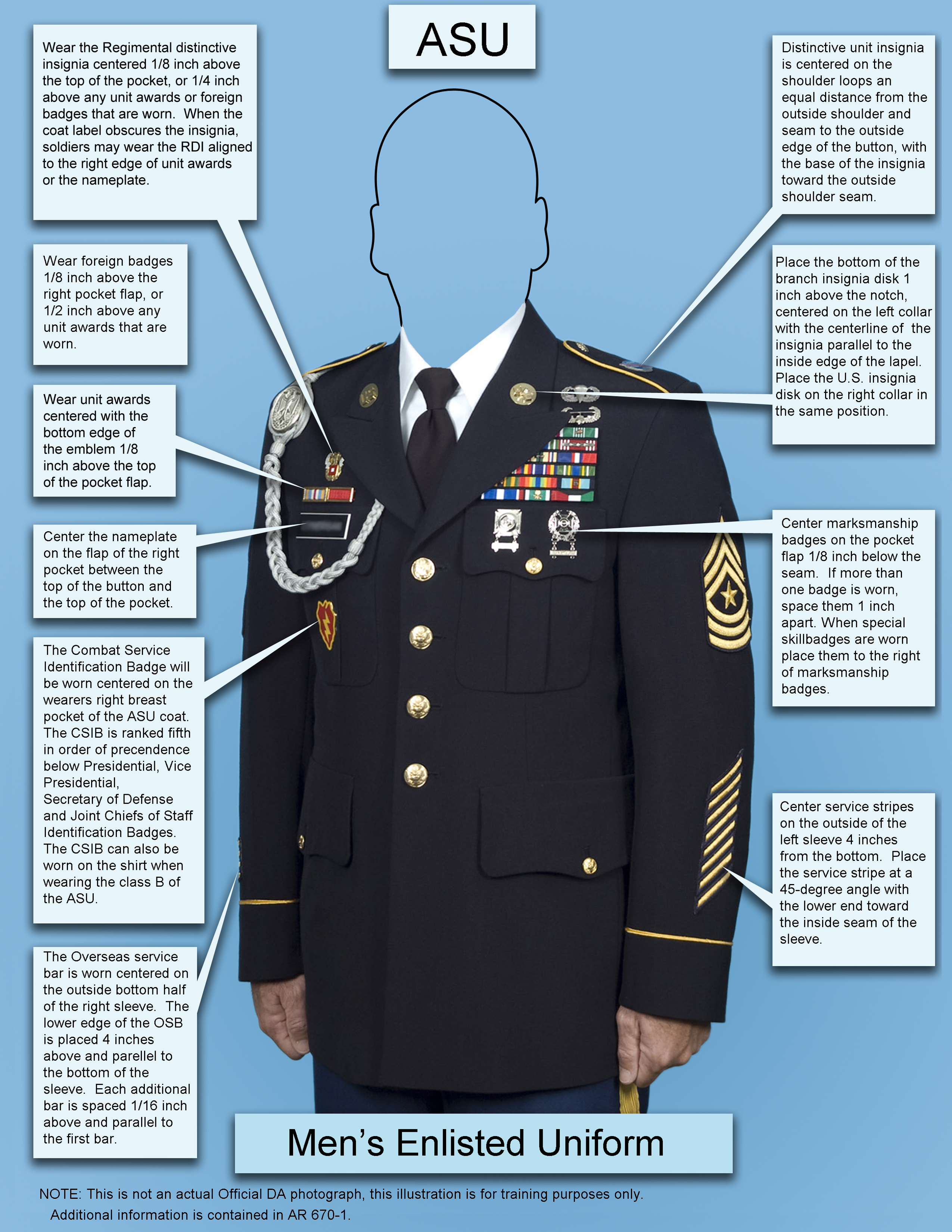 Male Enlisted ASU template
