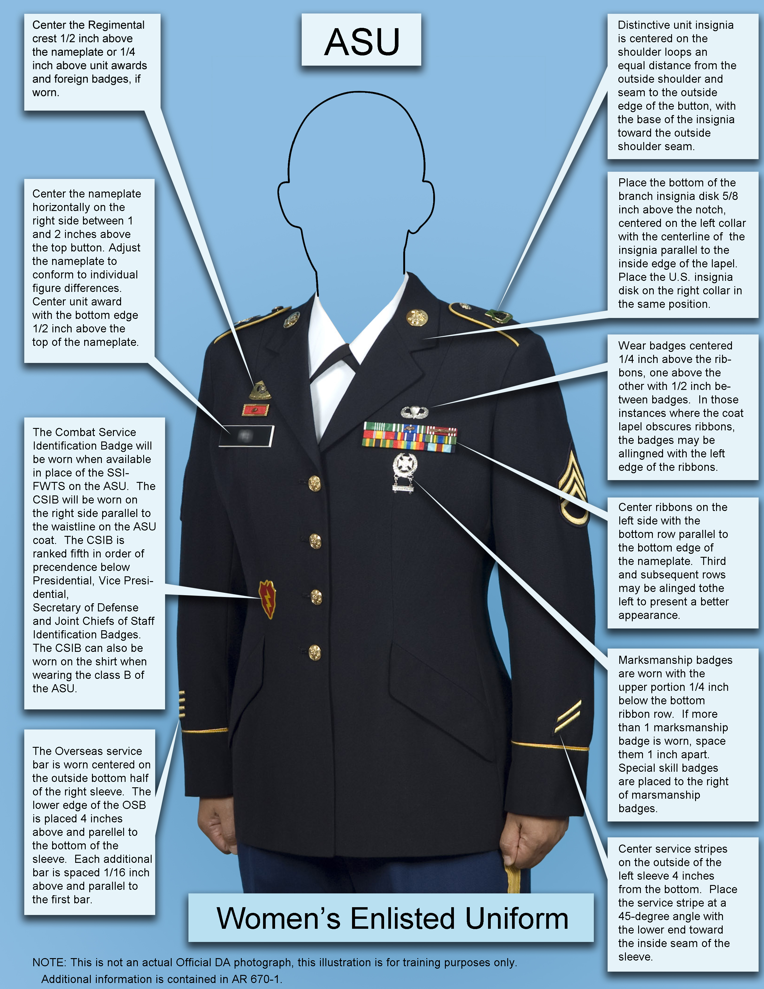 Female Enlisted ASU template