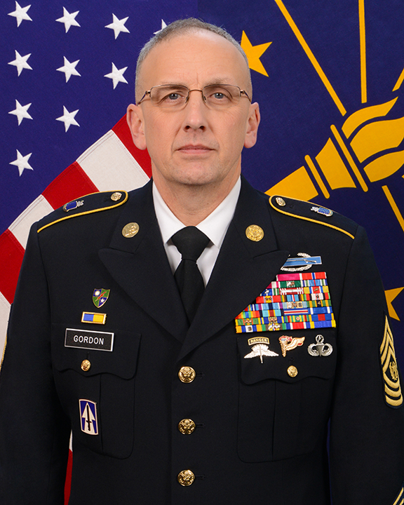 Command Sgt. Maj., James R. Gordon headshot