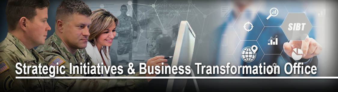 Header image- collage of pictures for Strategic Initiatives and Business Transformation Office page