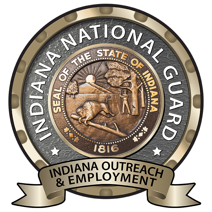 Indiana National Guard Employment Team logo showing the seal of the state of Indiana