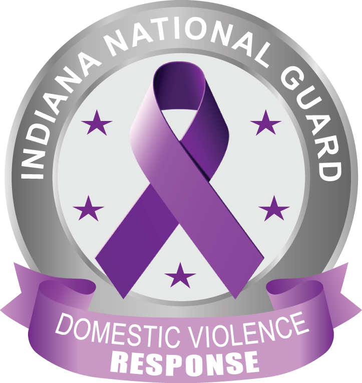 INNG Domestic Violence Response logo with purple ribbon