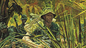 painting of Delta Company- Indiana Rangers during Vietnam War