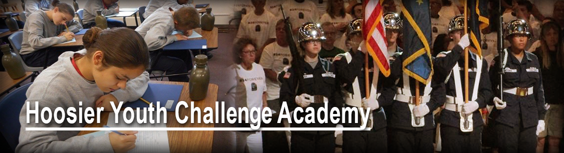 Header image- photo collage for Hoosier Youth Challenge Academy page