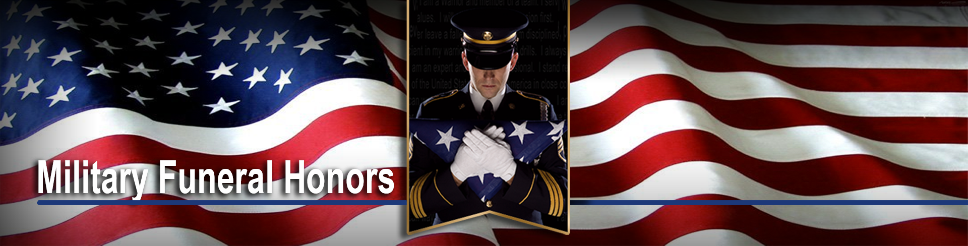 Header image for Military Funeral Honors page