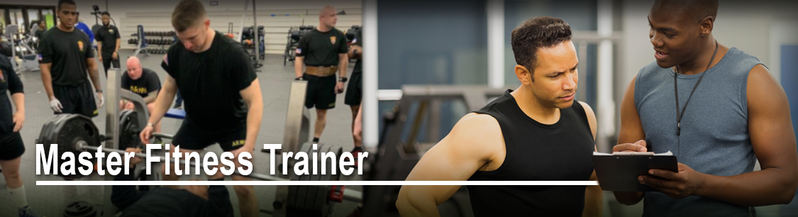 Header image- banner for Master Fitness Trainer page